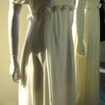 Hochzeitskleid, 3 Stoffarten, Seidenchiffon, Spitze, Seidensatin