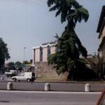 Vista dell'hotel da Corso Milano a Padova