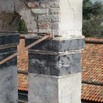 Consolidamento del campanile con rete in fibra di carbonio