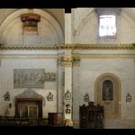 Parete interna sud della chiesa
