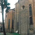 Vista laterale della Chiesa degli Eremitani a Padova