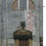 Schema consolidamento muratura esterna con barre d'acciaio