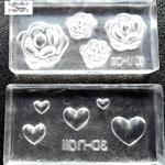 Silikon Formen Set -Herzen und Rosen-
