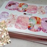 Schmetterlings Wraps Päckchen -Set2-  incl. 100 Strasssteine