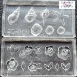 Silkon Formen Set-Rosen und Muscheln-