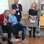 """MEP Andreas Schieder mit der Nationalratsabgeordneten Eva-Maria Holzleitner bei der SP-Europakonferenz """"Europa auf in die neue Zeit"""""""