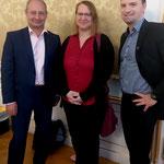 """MEP Andreas Schieder, Kati Schneeberger (Präsidentin der Initiative """"Vienna goes Europe - VIEGO"""", Dietmar Pichler"""