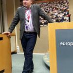 MEP Andreas Schieder im Europäischen Parlament in Brüssel im Rahmen einer Fragerunde für den CIFE (Centre International de Formation Européenne) Lehrgang