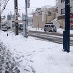 アトリエから駅までの道 蘇我駅は大雪です!
