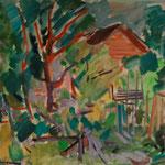 Valle Maggia (Zwitserland)  1958  46 x 46  Aquarel, i.b.v. Fam. Stevens-Spijker