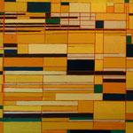 Horizontaalcompositie, 1980, 90 x 120 Acryl op doek, i.b.v. Pim de Ruiter