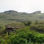 auf der weiteren Fahrt die Tafelberge des NP Chapada Diamantinas