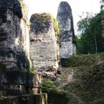 in der Ausgrabungsstätte Tikal