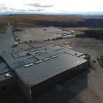Der Parkplatz von oben - mit Drohne fotografiert
