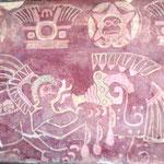 ein Paar Wandmalereien sind noch gut erhalten