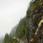 der Rückweg von Ucluelet - wieder im Regen