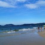 wir geniessen den sauberen Strand ...
