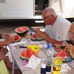 unser Mittagskompott - mmmm Melone