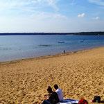 der Helenesee - sehr sauber mit tollem Strand