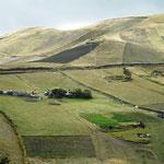 die Felder werden hier in den Bergen per Hand bearbeitet (immerhin bis zu 3800 m hoch)