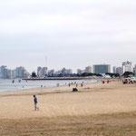 langer, endloser und recht sauberer Strand ...