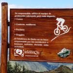 sogar ein Radweg führt von hier oben in das Tal - nichts für uns