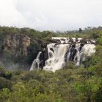 wir sehen die Wasserfälle vom Stellplatz aus