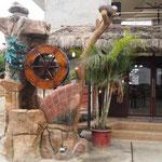 Restaurant mit hübschem Eingang