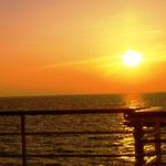der erste Sonnenaufgang auf See
