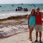 Foto-Time am gar nicht tollen Karibik-Strand