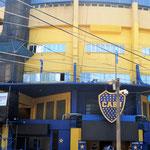 das Fussballstadium in La Boca - hier hat auch Diego Maradona trainiert
