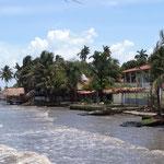 An der Karibik - nicht so berauschend, dreckiges Wasser und kein Strand