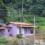 Brasilianer mögen lila und pinkene Häuser