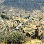 der weitere Straßenverlauf - über 3000 Höhenmeter wollen überwunden werden