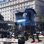 mobiles Häuschen für die Polizei