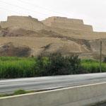 Ruine der Chimu-Kultur am Wegesrand