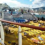 Ein Schiffs-Deck