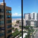 Blick aus dem 11. Stock ihrer Stadtwohnung