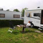 Auf dem Campingplatz Ketzin an der Havel