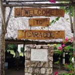 "wir kommen an der Maya-Ruine ""Caracol"" an"