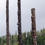 Totem Poles in Gitanyow