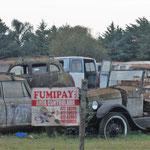 ein Autofriedhof mit echten kleinen Schmuckstücken,