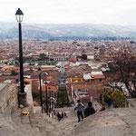 ... und haben ein fantastischen Blick über Cajamarca