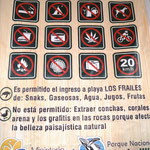 im Nationalpark viele Verbote ...