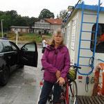 Fährfahrt zum Übersetzen nach Wörlitz