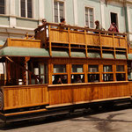ein kurzes Stúck fáhrt die Traditionsbahn