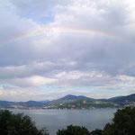 Der Abschluss mit zartem Regenbogen!