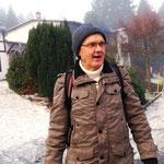 wir sind warm angezogen für die erste (halb)-Winterwanderung