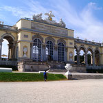 die Gloriette von 1775 - heute Caffee und Terrasse