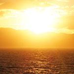 die Sonne verabschiedet sich erst einmal